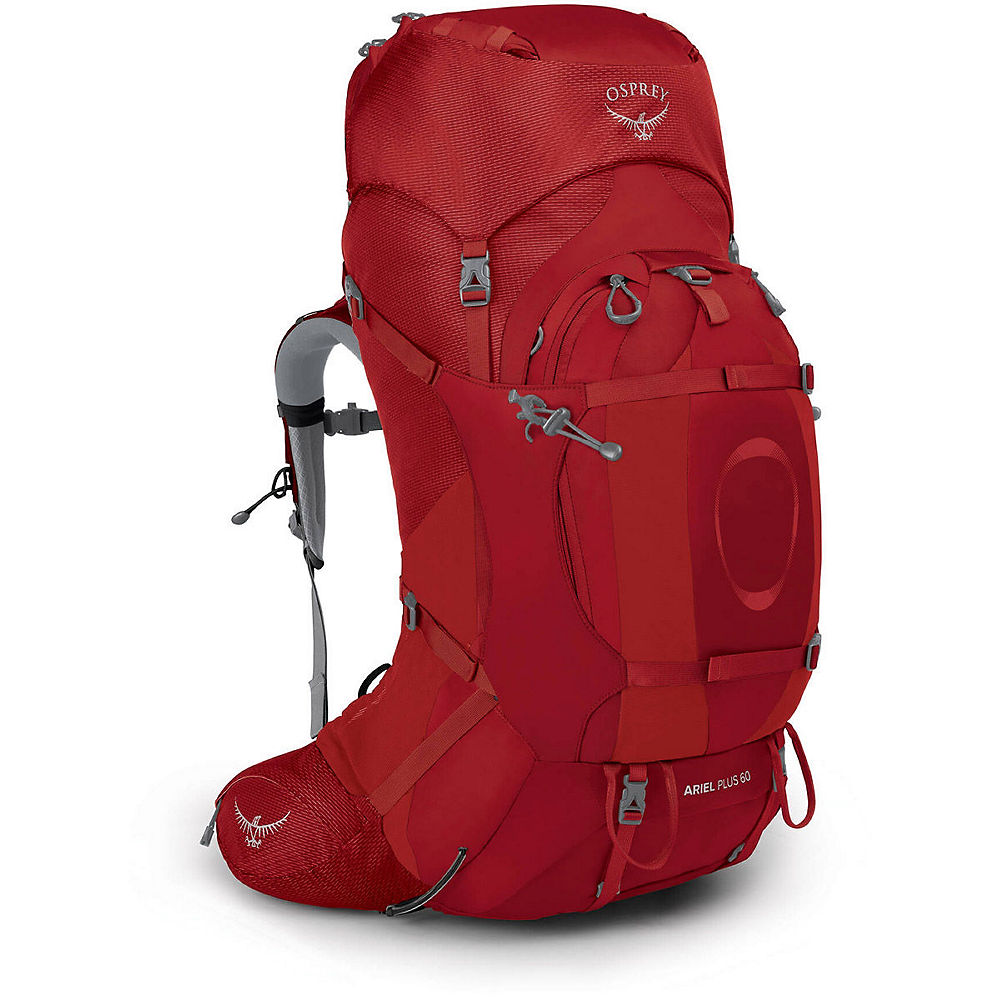 Osprey Ariel Plus 60 Backpack SS21 - Carnelian Red - Medium/Large, Carnelian Red