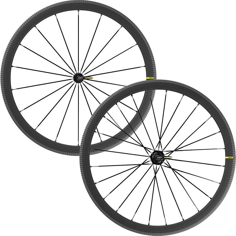 Mavic Cosmic SLR 40 Disc Road Wheelset - Black - Shimano HG, Black