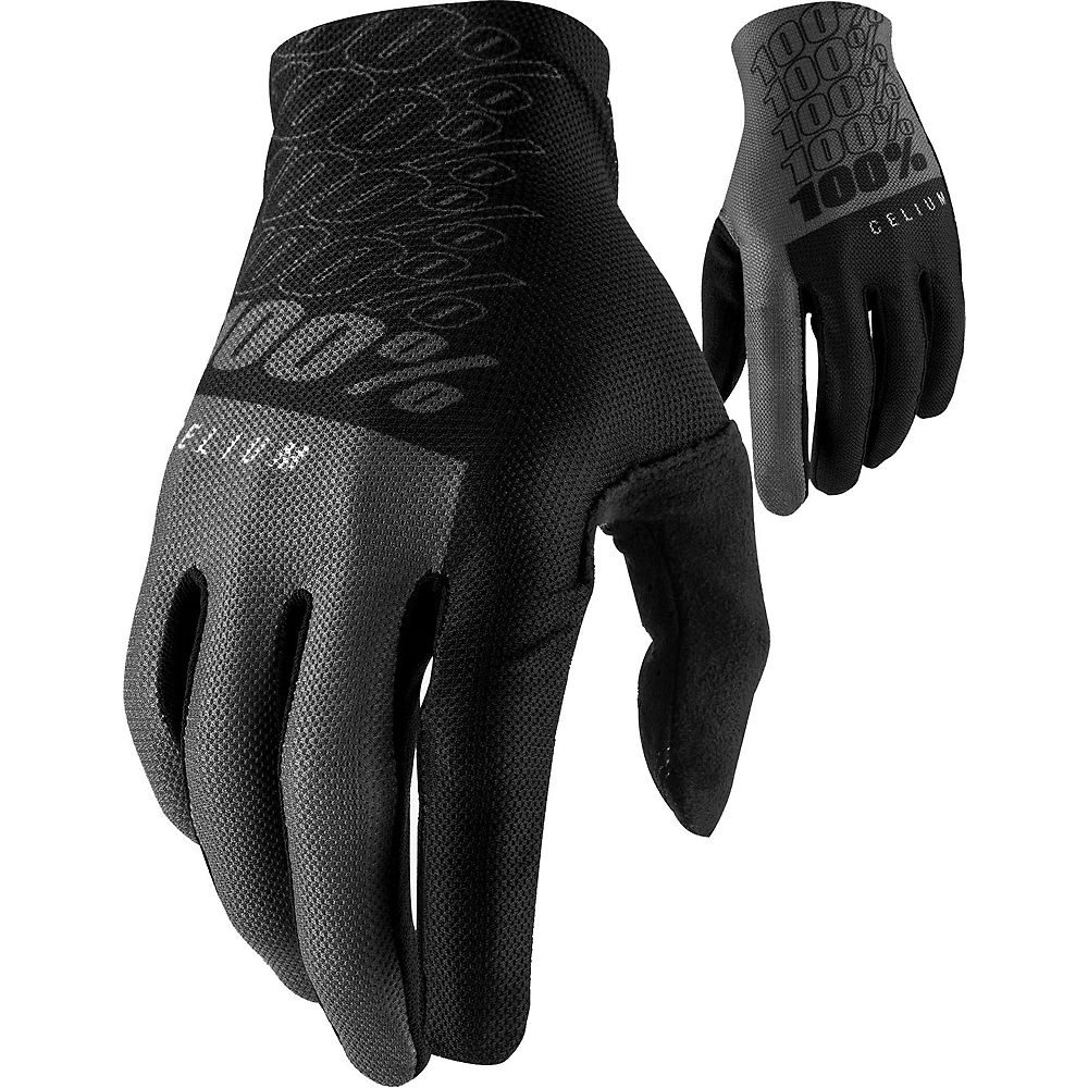 100% Celium Glove 2021 - Black-Grey - S, Black-Grey
