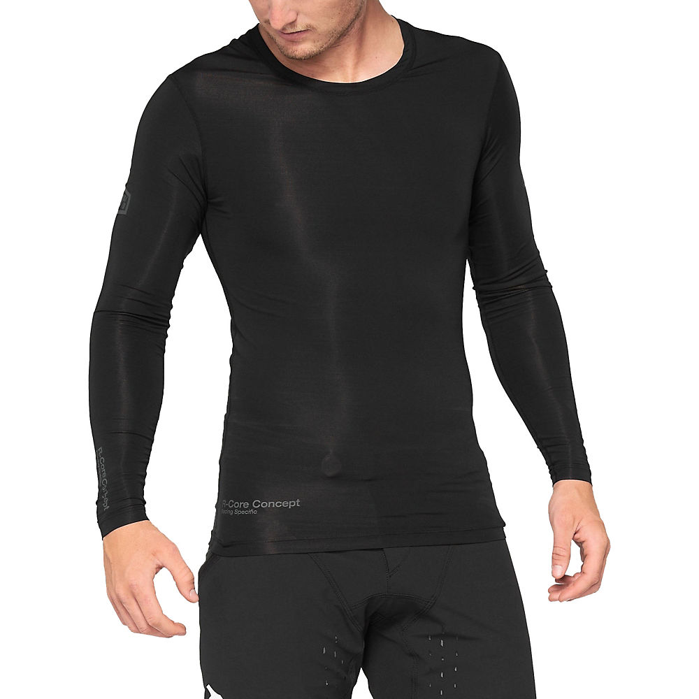 100% R-CORE CONCEPT Long Sleeve Jersey 2021 - Black - M, Black