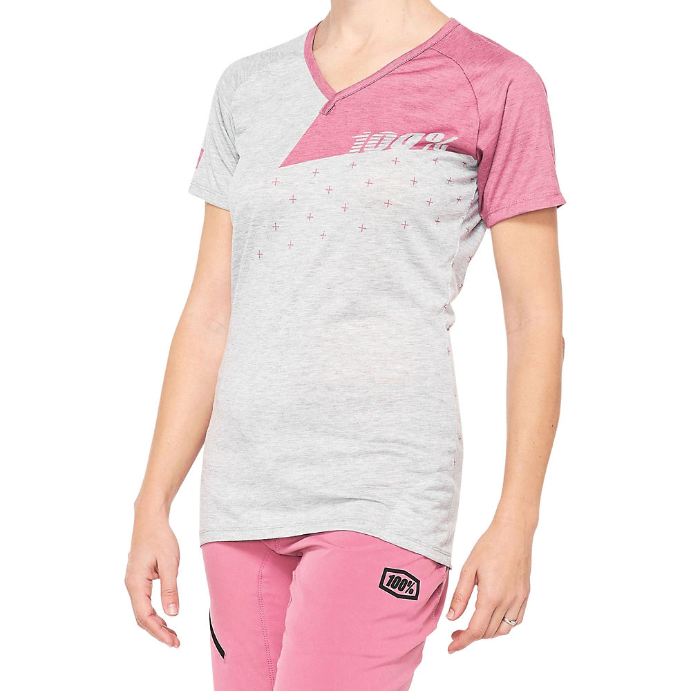 100% Womens Airmatic Mtb Jersey  - Grey-mauve - Xl  Grey-mauve