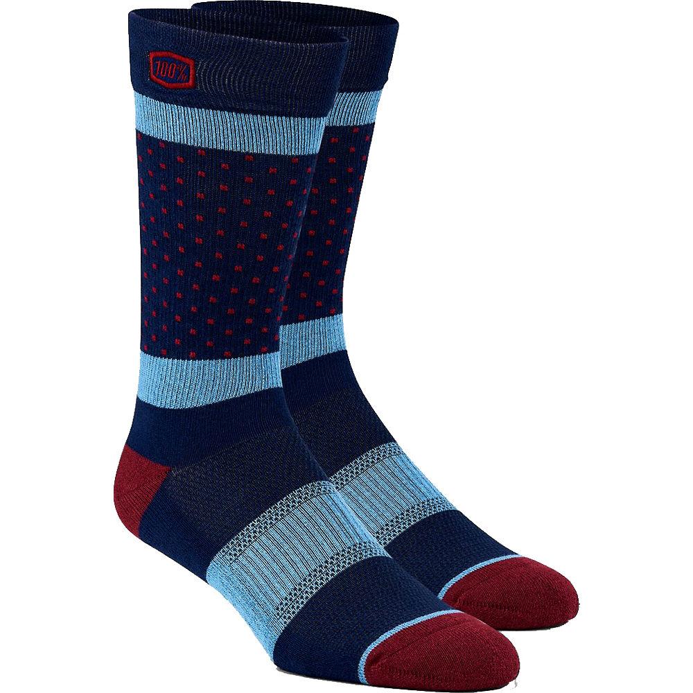 100% Opposition Casual Socks  - Navy - S/M, Navy