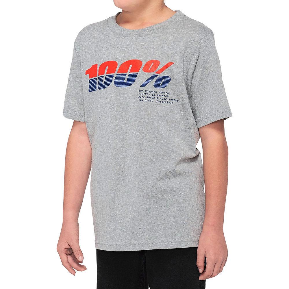 100% Youth Bristol T-Shirt  - Grey Heather - M, Grey Heather