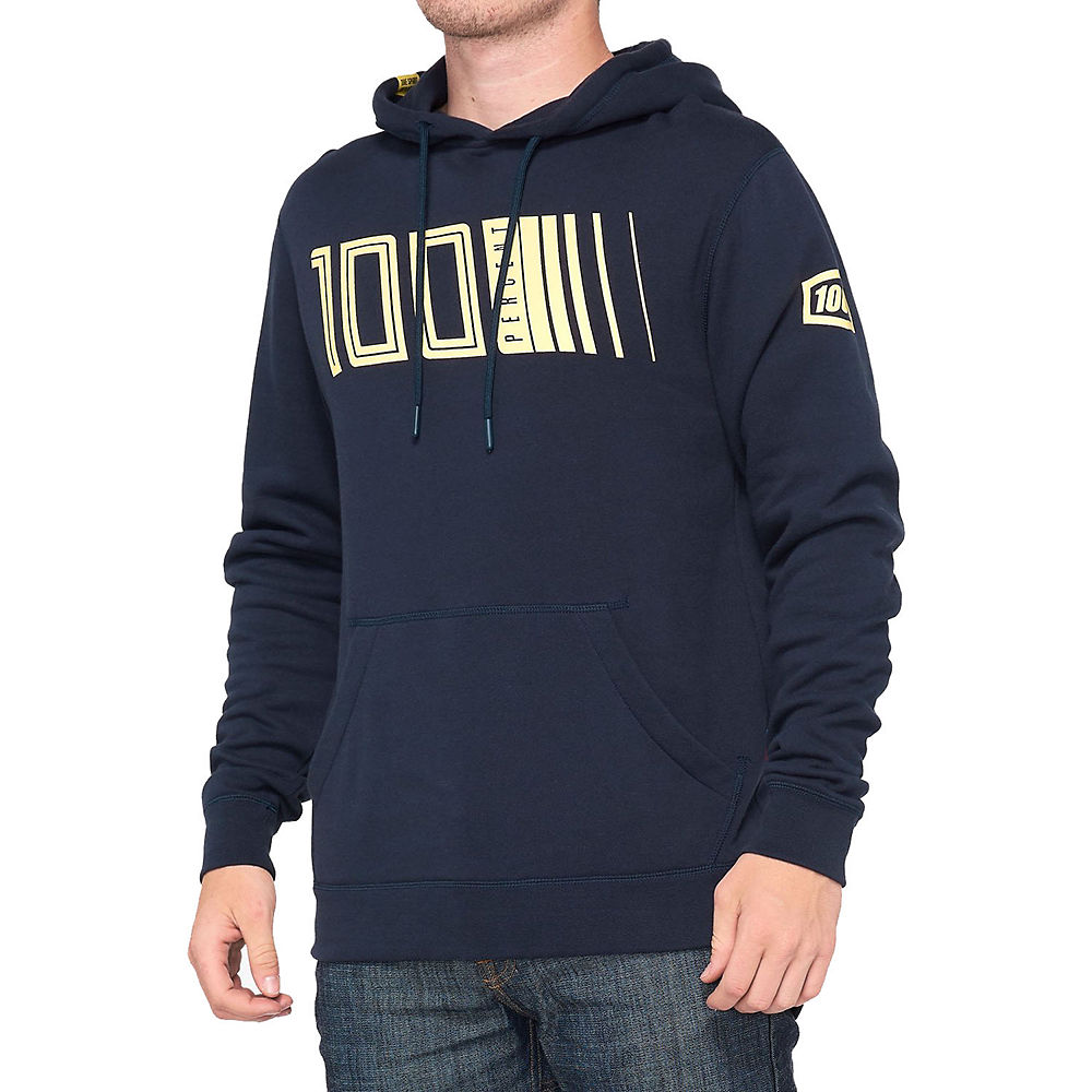 100% Pulse Hooded Pullover  - Navy - M  Navy