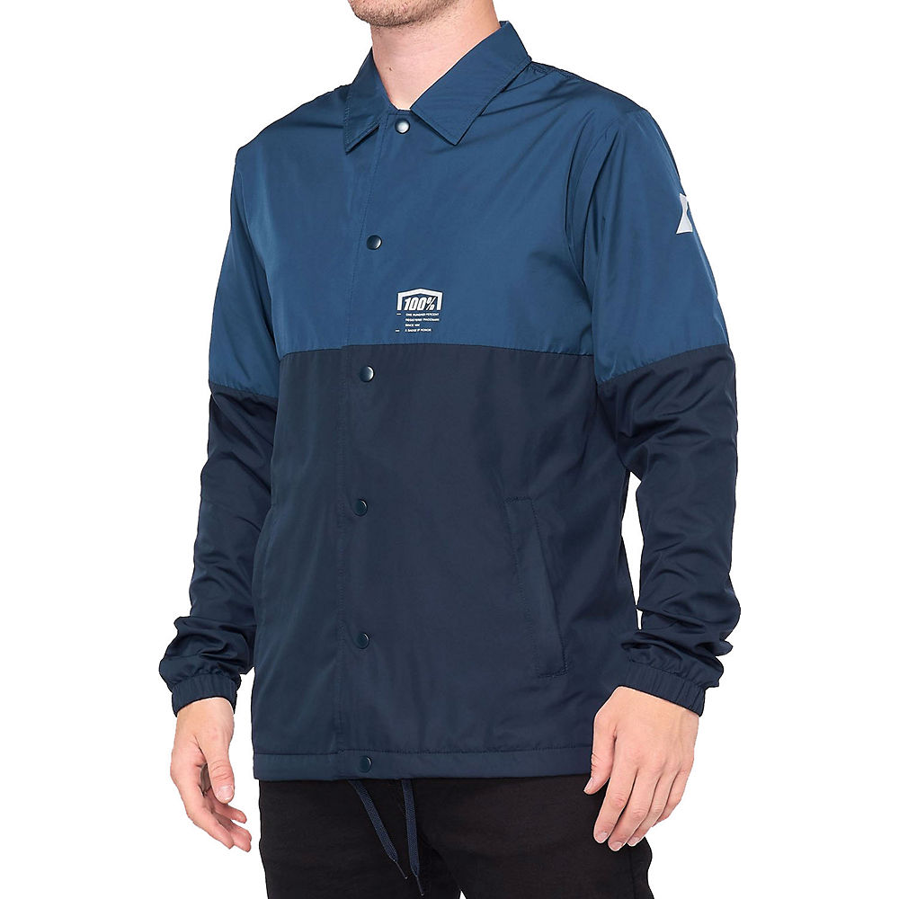 100% Ascott Coaches Jacket  - Navy - XL, Navy