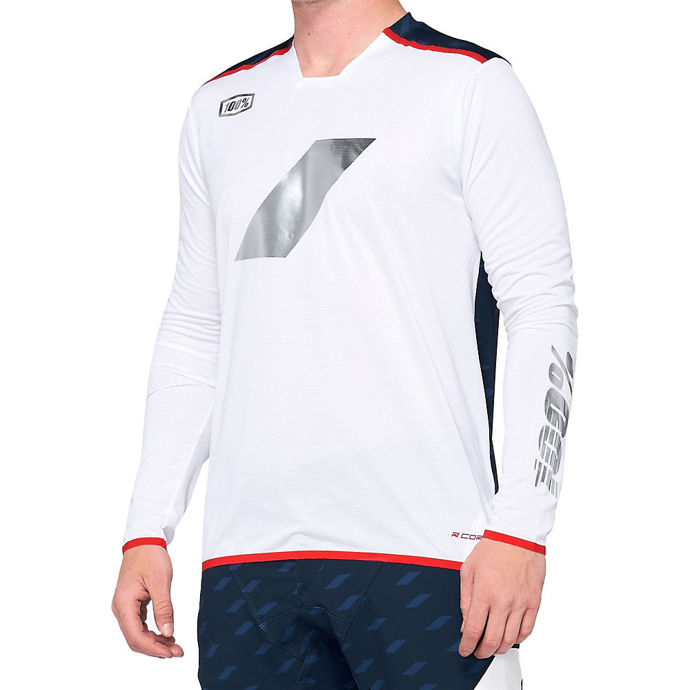 100% R-Core X Limited Edition MTB Jersey  - Navy-White, Navy-White