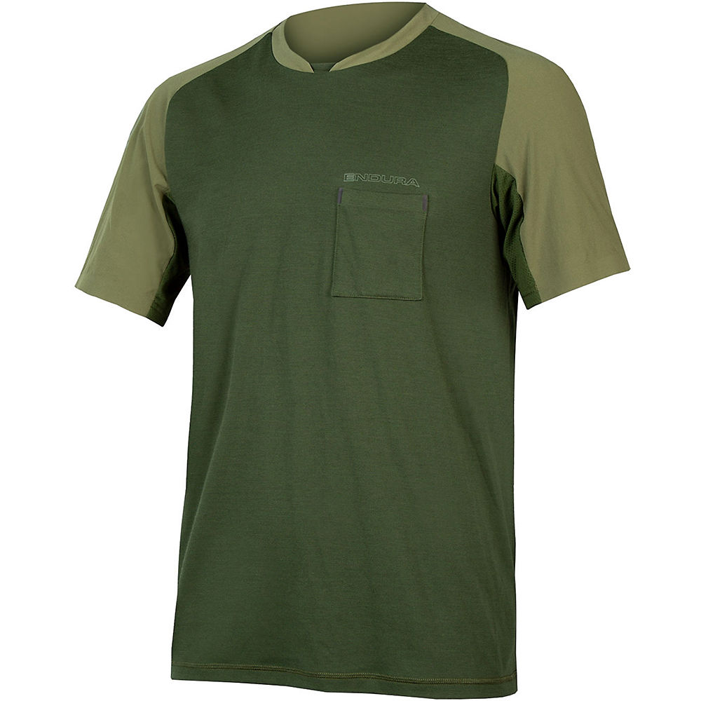 Endura GV500 Foyle T Cycling Jersey - Olive Green - XXL, Olive Green