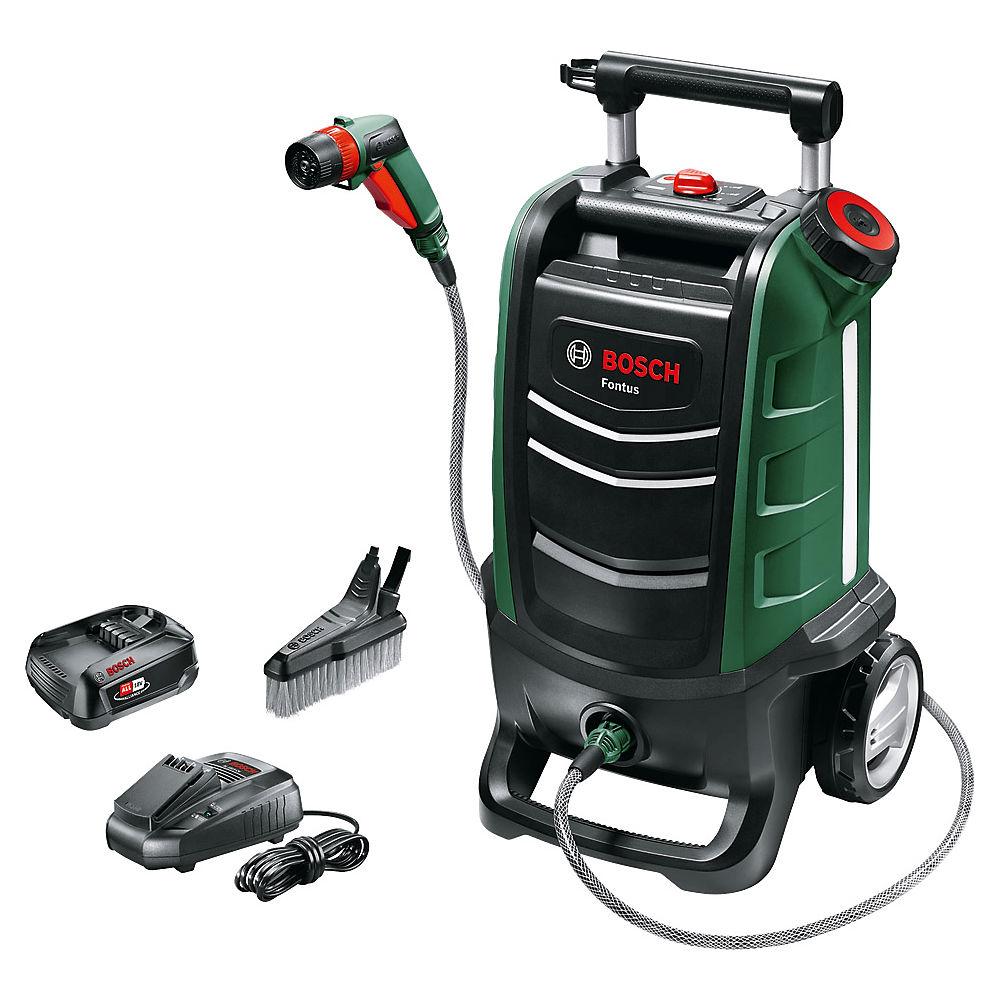 Bosch Fontus Portable Bike Pressure Washer - Negro-Verde, Negro-Verde