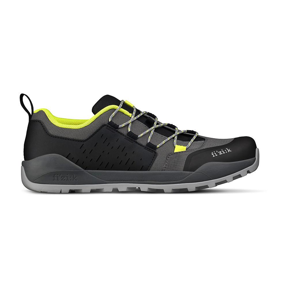Fizik Terra Ergolace X2 Flat Off Road Shoes 2021 - Grey-yellow - Eu 45.3  Grey-yellow