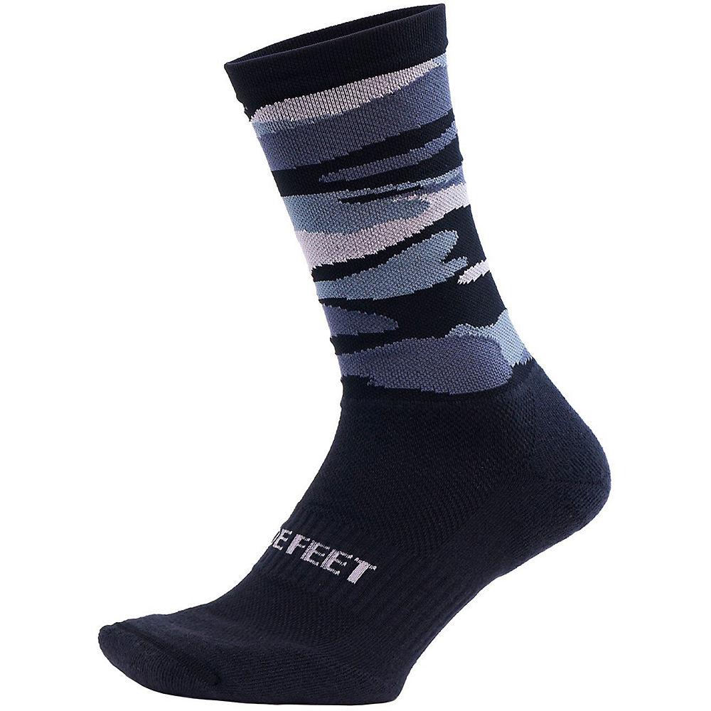 Defeet Cush 7 Camo Sock 2021 - Camo Black  Camo Black