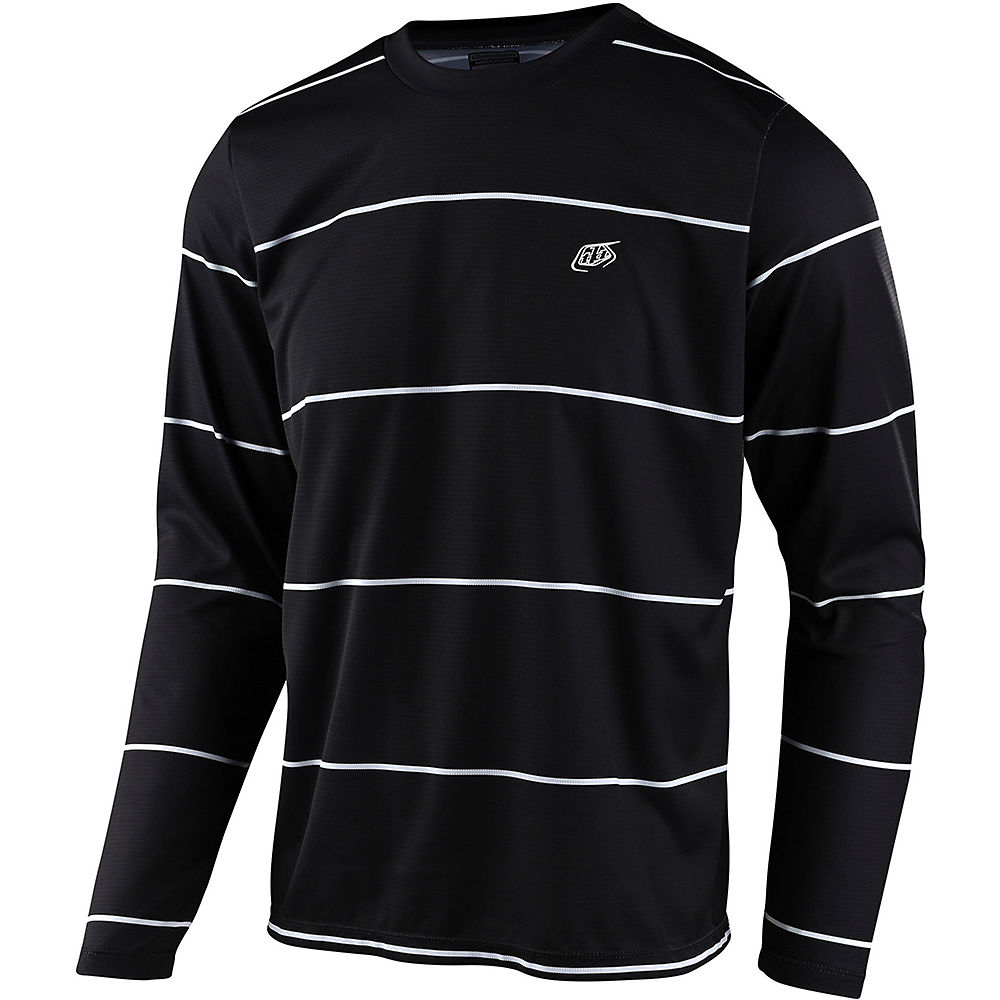 Troy Lee Designs Flowline LS Jersey Stacked 2021 - Stacked Black, Stacked Black