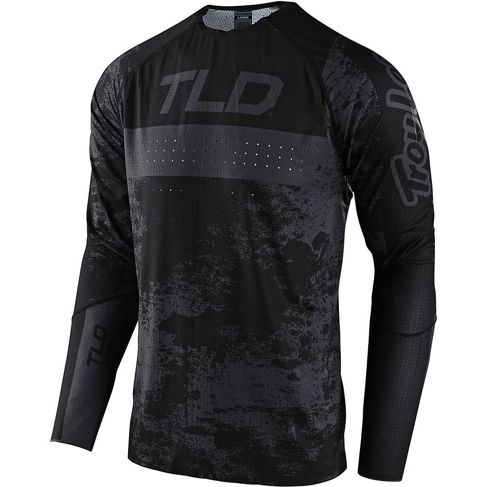 Troy Lee Designs Sprint Ultra LS Jersey 2021 - Grime Black - XXL, Grime Black
