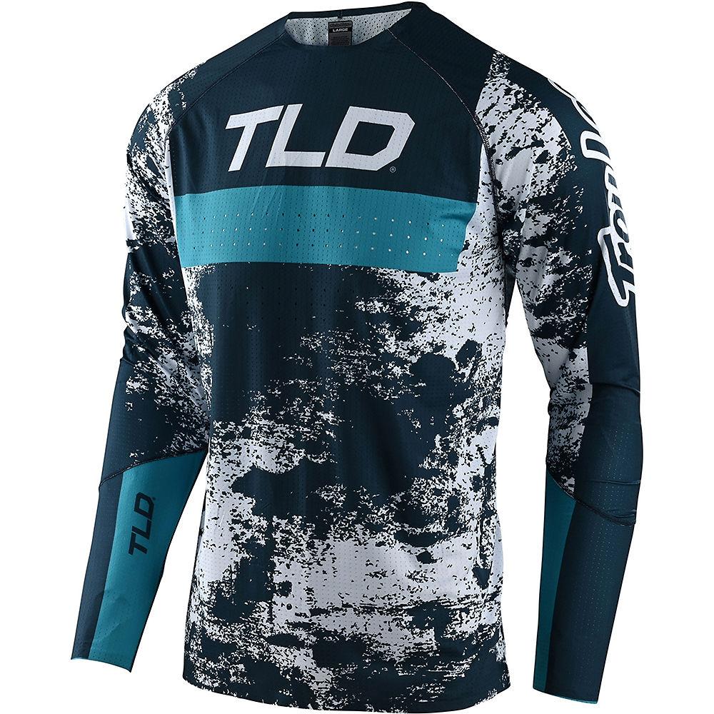Troy Lee Designs Sprint Ultra LS Jersey 2021 - Grime Marine - Blue Bird - XL, Grime Marine - Blue Bird