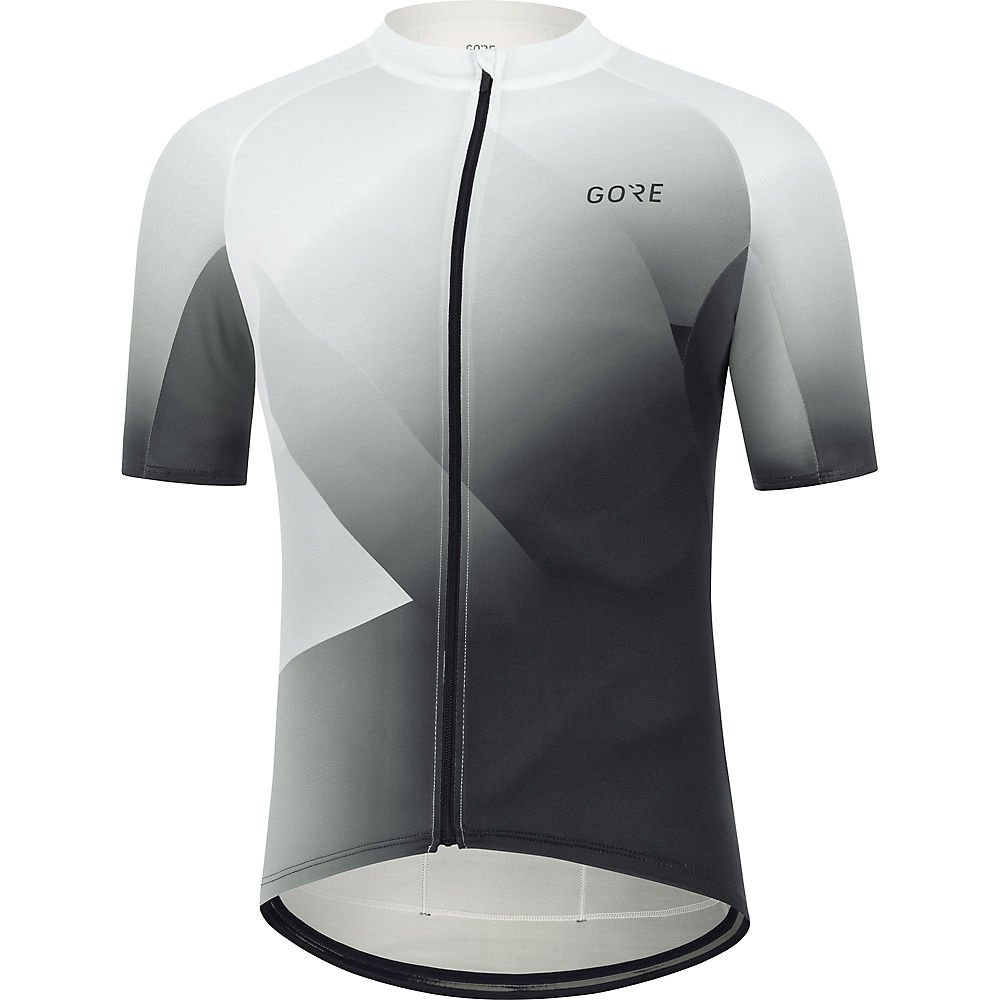 Gore Wear Fade Cycling Jersey Ss21 - White-black - M  White-black