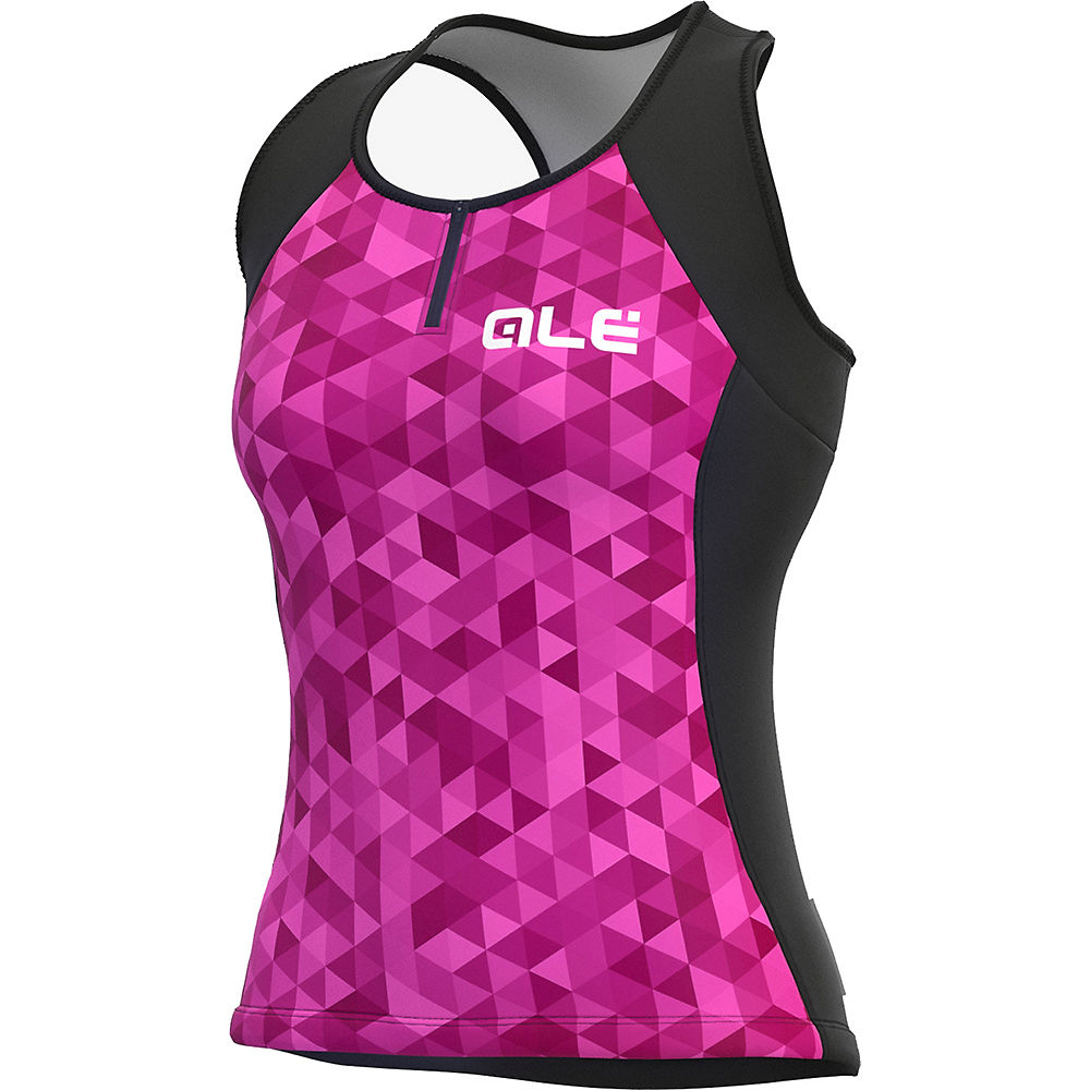 Alé Women's Solid Triangles Jersey SS21 - Rosa Fluo-Viola-Fluo Pink-Violet - XL, Rosa Fluo-Viola-Fluo Pink-Violet