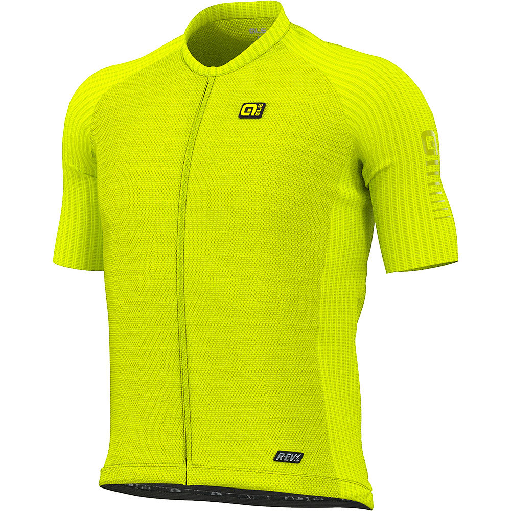 Alé R-EV1 Silver Cooling Jersey SS21 - Fluo Yellow, Fluo Yellow