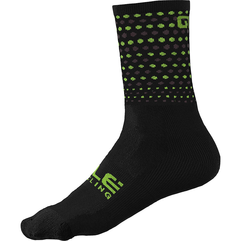 Alé Bullet Socks SS21 - Black-Fluo Yellow, Black-Fluo Yellow