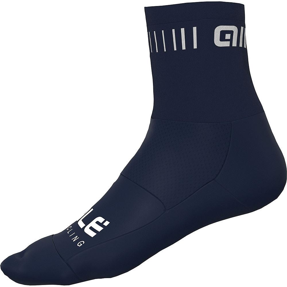 Alé Calza Strada Q-Skin Socks SS21 - Blu Marino-Navy Blue-White, Blu Marino-Navy Blue-White