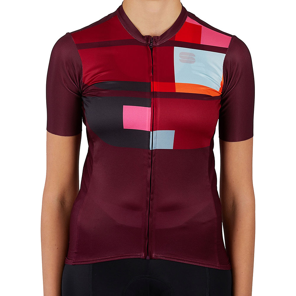 Sportful Womens Idea Cycling Jersey Ss21 - Red Wine - Xs  Red Wine