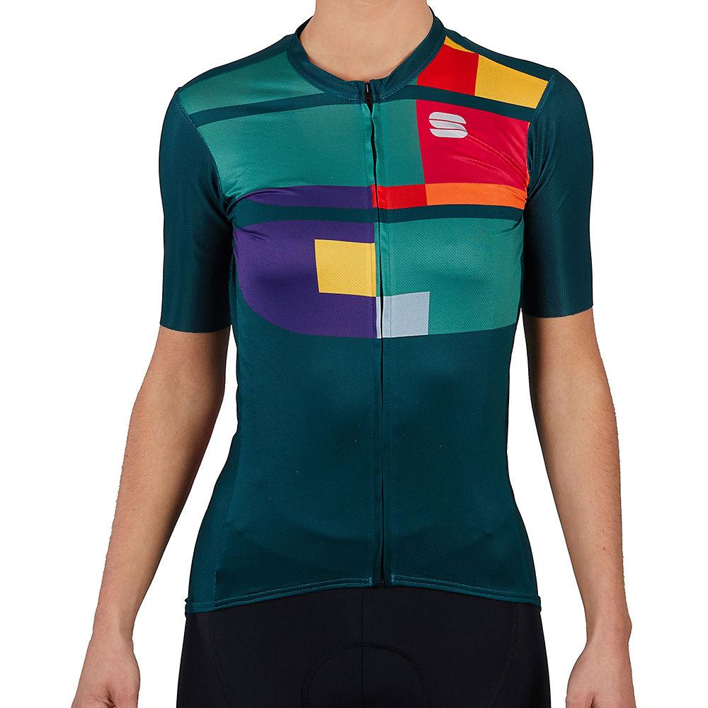 Sportful Womens Idea Cycling Jersey Ss21 - Sea Moss - Xxl  Sea Moss