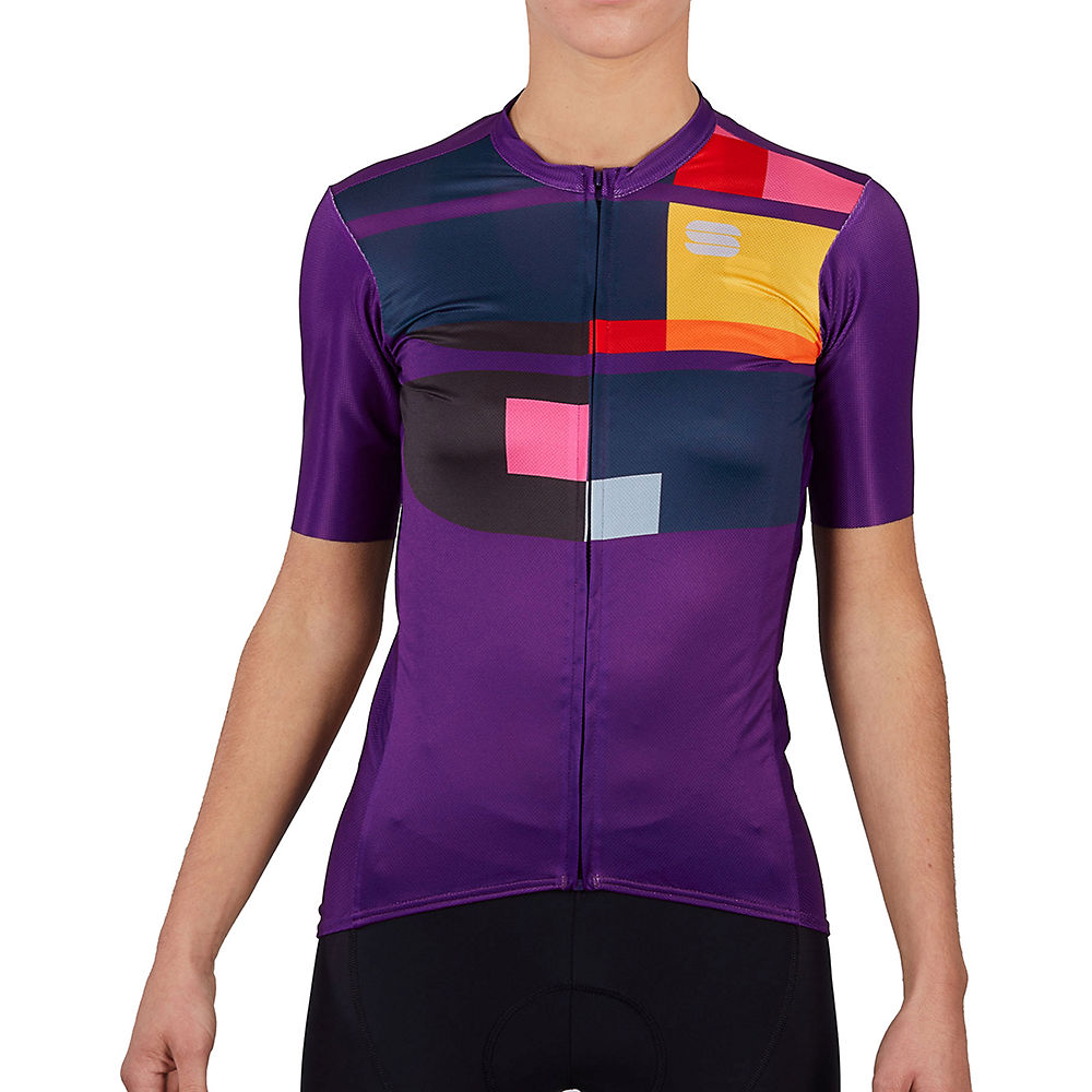 Sportful Womens Idea Cycling Jersey Ss21 - Violet - Xxl  Violet