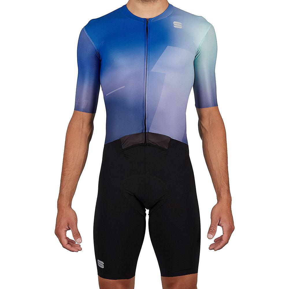 Sportful Bomber Skin Suit SS21 - Verde/Azul, Verde/Azul