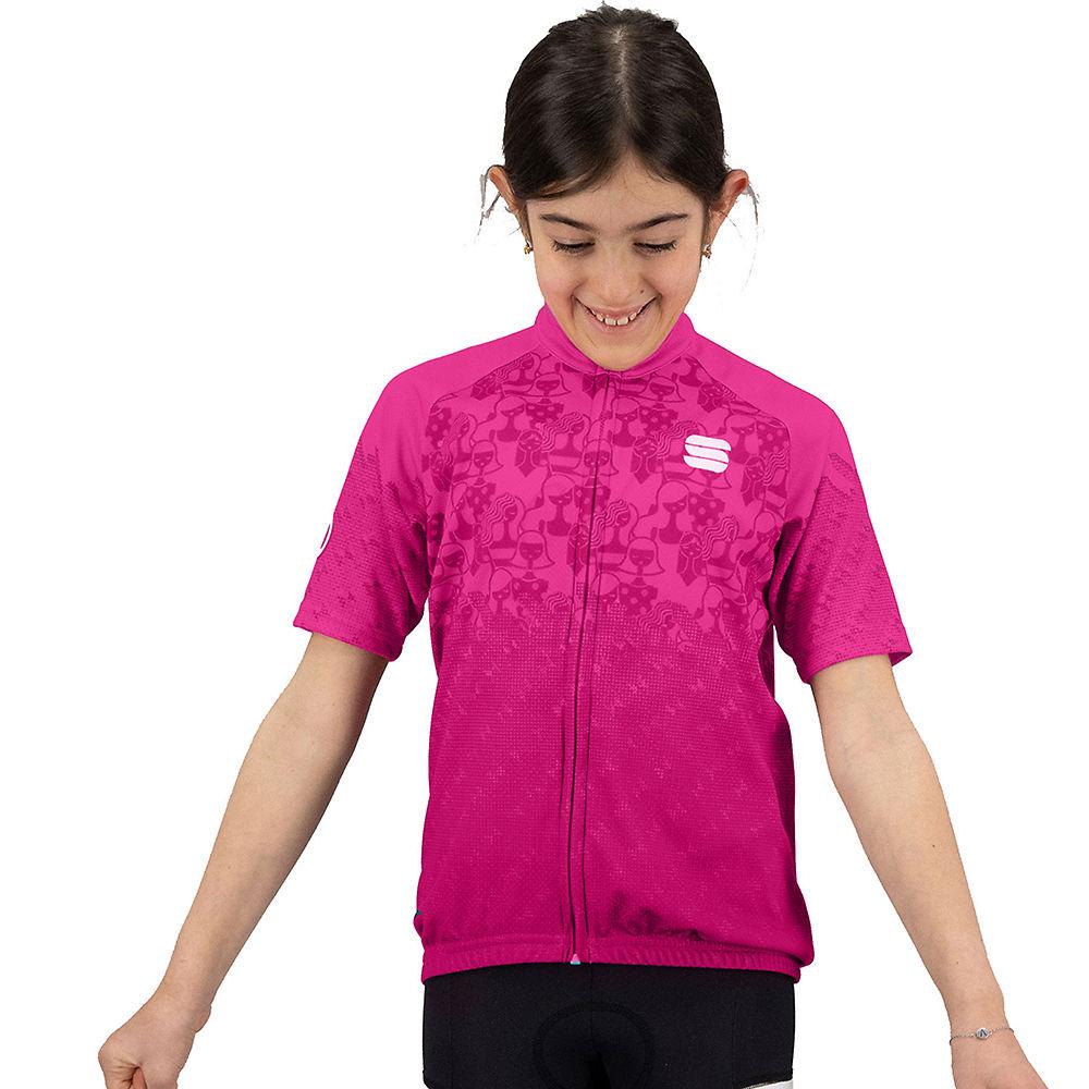 Sportful Kids Super Girl Cycling Jersey Ss21 - Bubble Gum - 11-12 Years  Bubble Gum