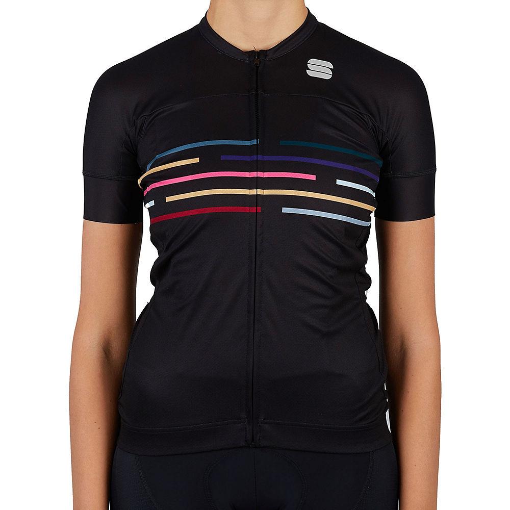 Sportful Womens Velodrome Cycling Jersey Ss21 - Black  Black