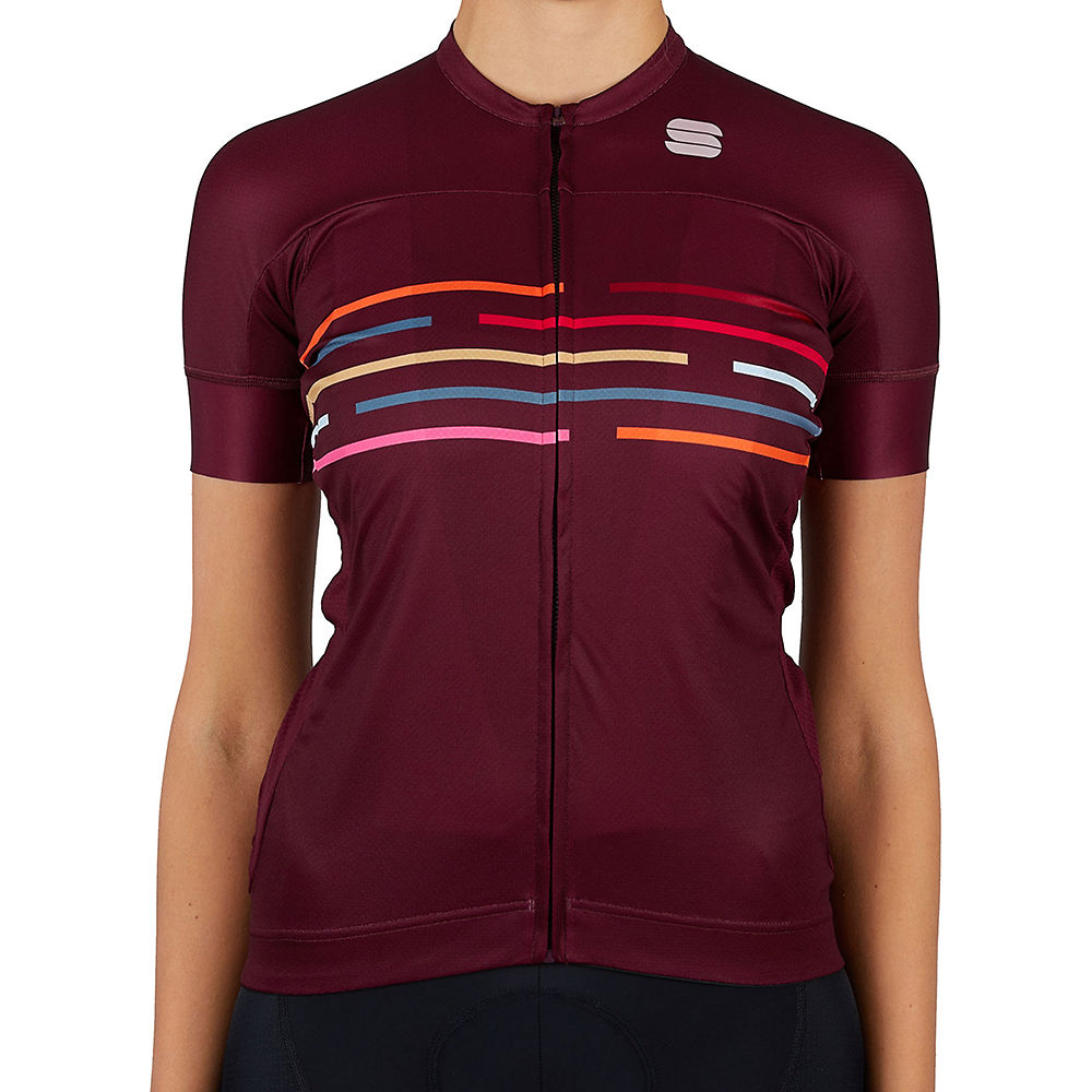 Sportful Womens Velodrome Cycling Jersey Ss21 - Red Wine  Red Wine