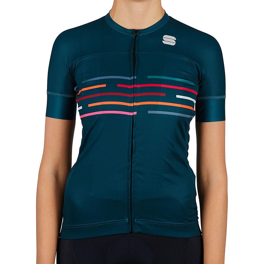 Sportful Womens Velodrome Cycling Jersey Ss21 - Sea Moss - Xl  Sea Moss