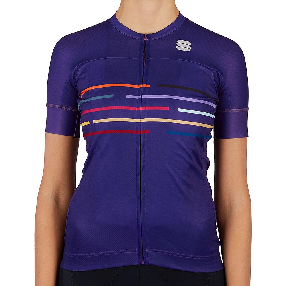Sportful Womens Velodrome Cycling Jersey Ss21 - Violet - Xs  Violet