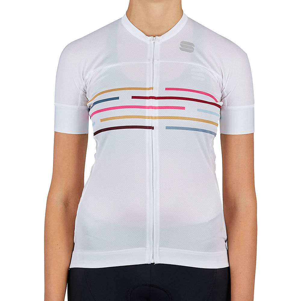 Sportful Womens Velodrome Cycling Jersey Ss21 - White - Xs  White