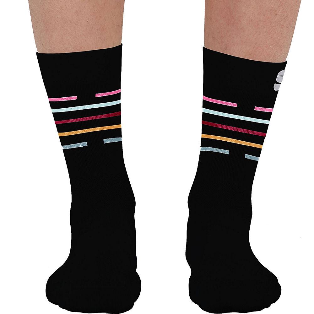 Sportful Womens Velodrome Cycling Socks Ss21 - Black-multicolor - S/m  Black-multicolor