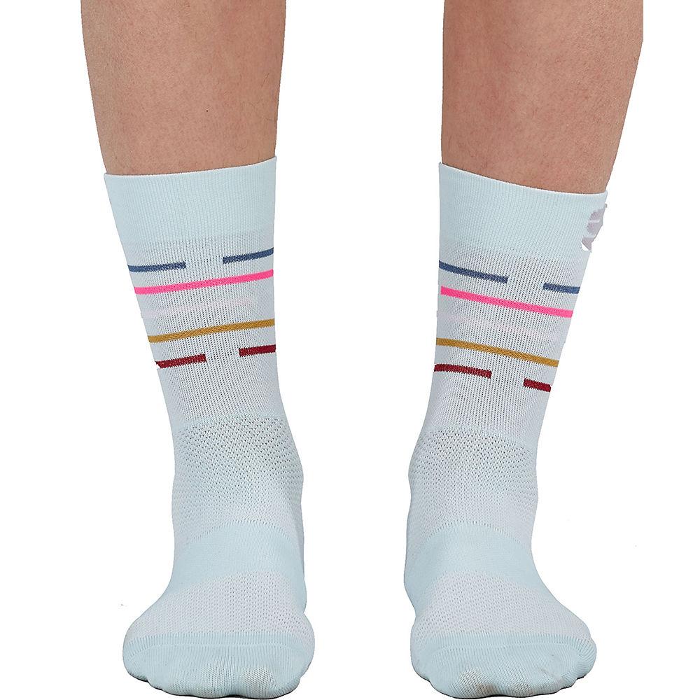 Sportful Womens Velodrome Cycling Socks Ss21 - Blue Sky-multicolor - S/m  Blue Sky-multicolor