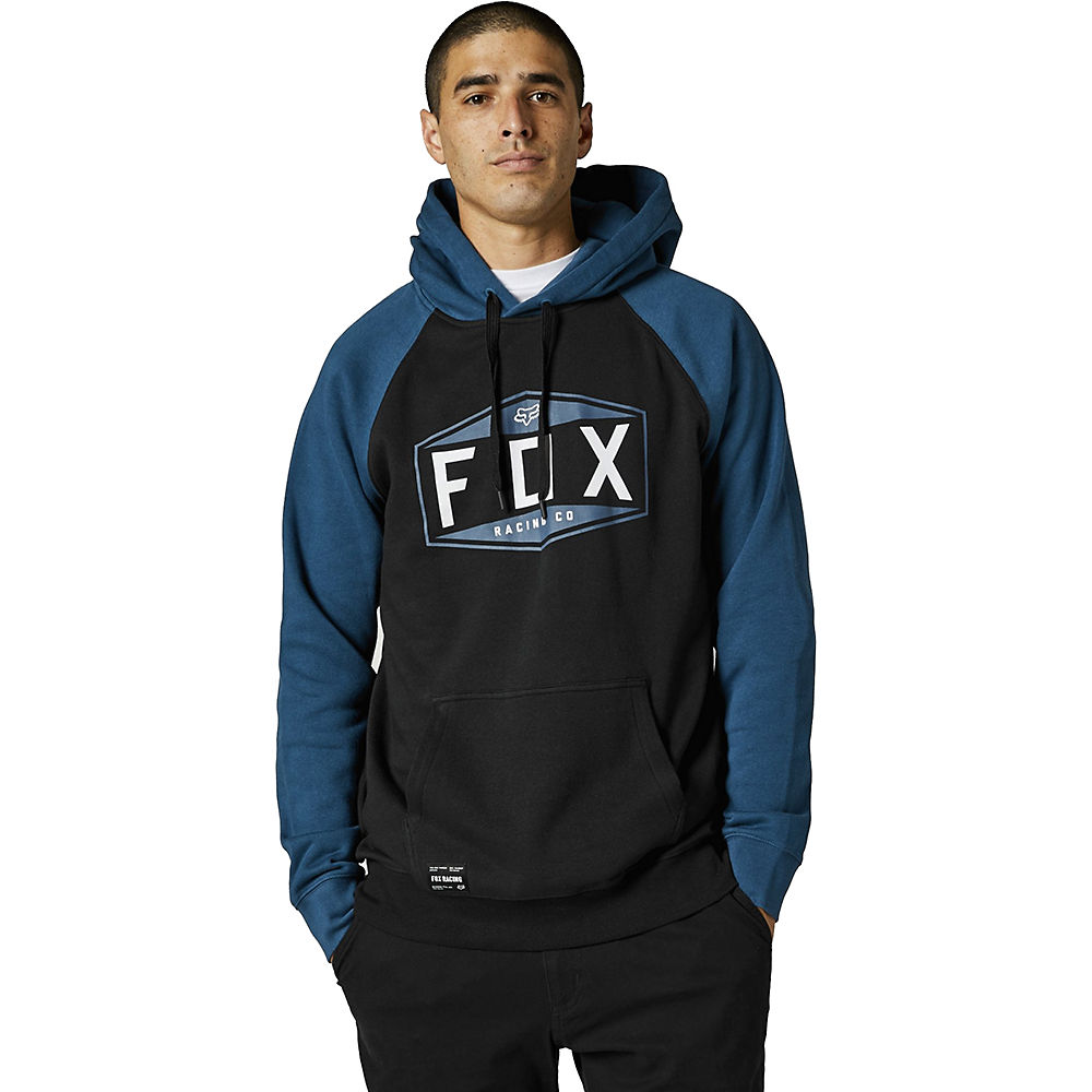 Fox Racing Emblem Raglan Pullover Fleece 2021 - Dark Indigo - S  Dark Indigo
