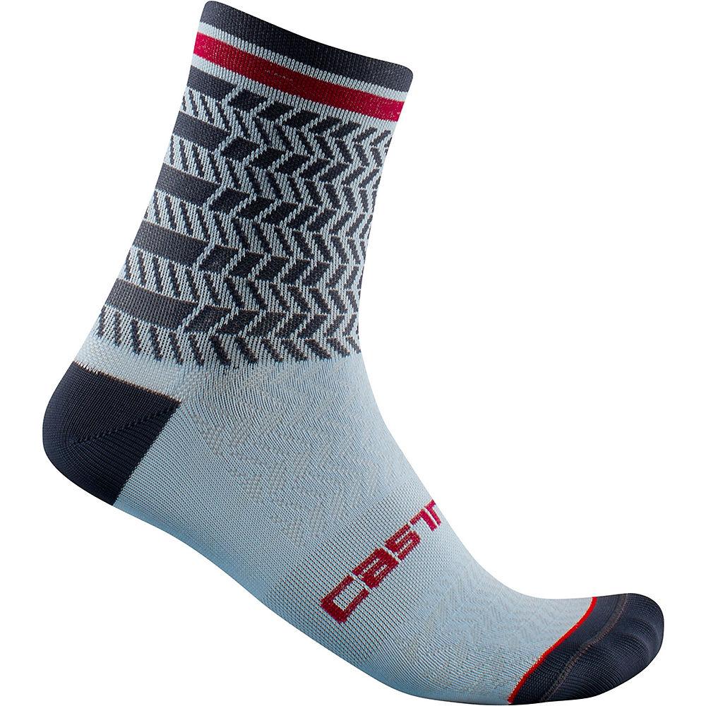 Castelli Avanti 12 Socks Ss21 - Dusty Blue-dark Steel Blue - S/m  Dusty Blue-dark Steel Blue
