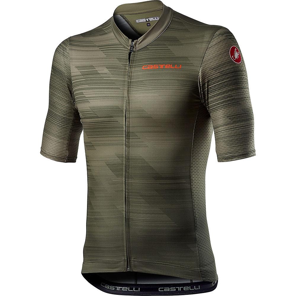 Castelli Rapido Cycling Jersey Ss21 - Military Green - Xxl  Military Green