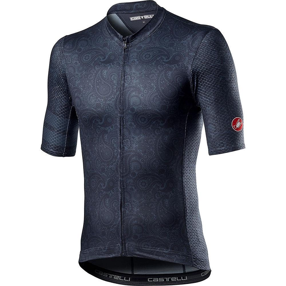 Castelli Maison Cycling Jersey SS21 - Dark Steel Blue - XL, Dark Steel Blue