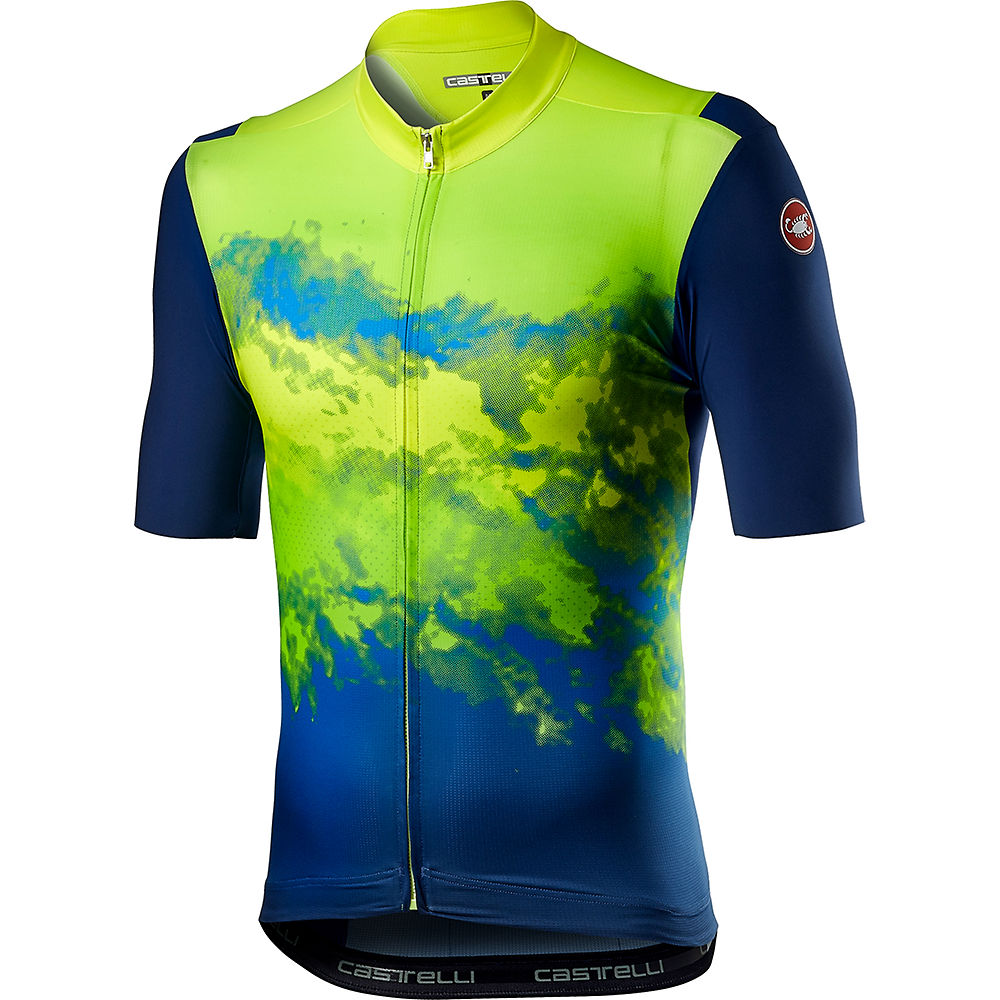 Castelli Polvere Cycling Jersey Ss21 - Yellow Fluo - Xs  Yellow Fluo