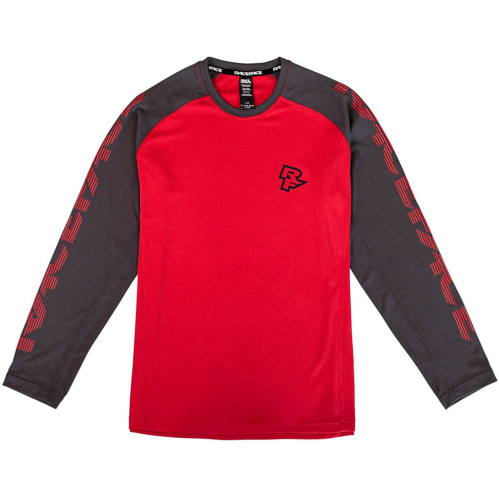 Race Face Youth Sendy MTB Cycling Jersey SS21 - Rouge, Rouge