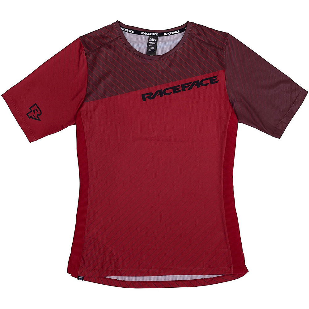 Race Face Women's Indy MTB Cycling Jersey SS21 - Dark Red - XS, Dark Red