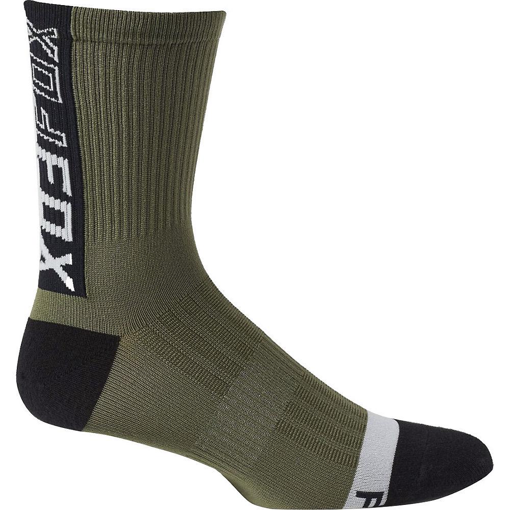 Fox Racing 6 Ranger Socks 2021 - Olive Green - S/m  Olive Green