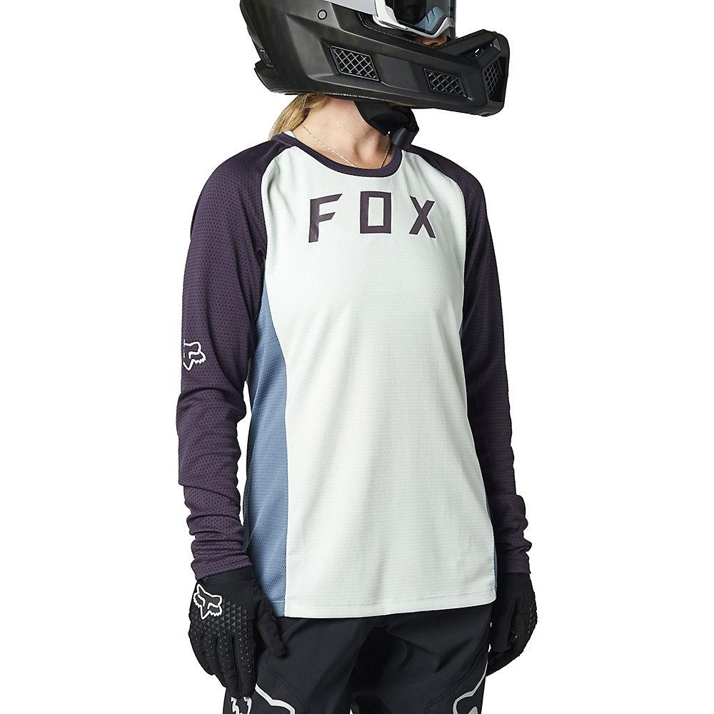 Fox Racing Womens Defend Long Sleeve Jersey 2021 - Grey-grey - Xs  Grey-grey