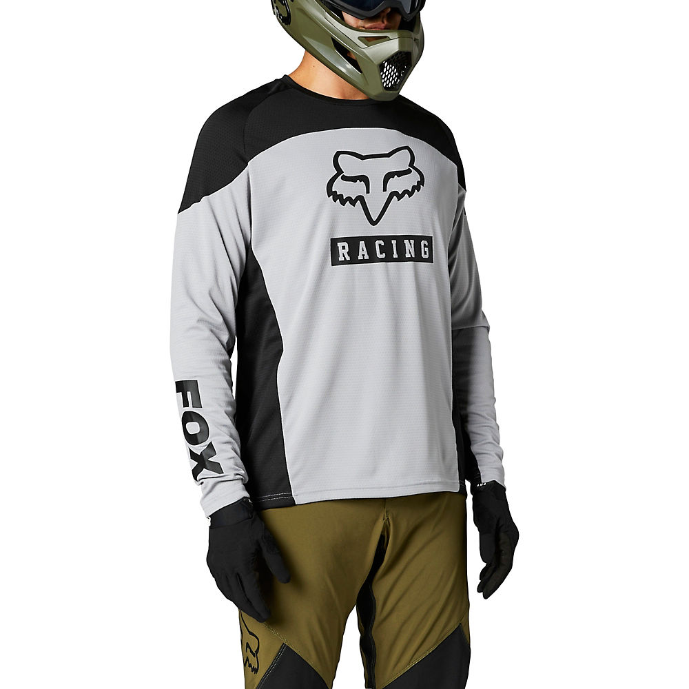 Fox Racing Defend Long Sleeve Jersey 2021 - Steel Grey  Steel Grey