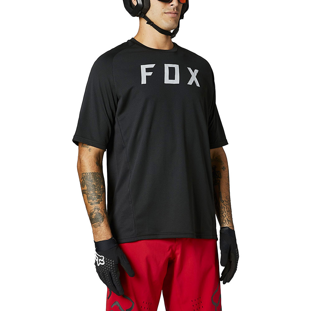 Fox Racing Defend Short Sleeve Jersey 2021 - Black - M  Black