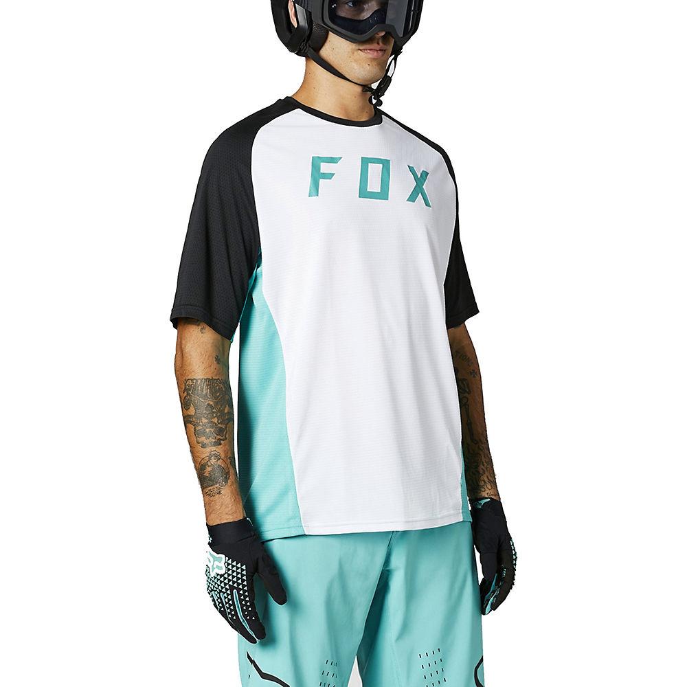 Fox Racing Defend Short Sleeve Jersey 2021 - Navy - M  Navy