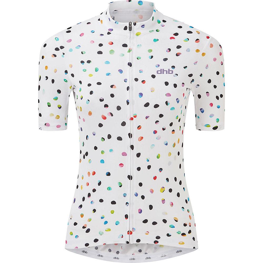 Dhb Moda Womens Short Sleeve Jersey - Iro 2021 - White - Uk 14  White