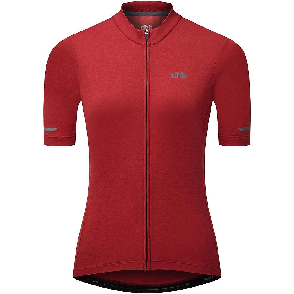 Dhb Womens Short Sleeve Jersey 2.0 2021 - Dark Red - Uk 12  Dark Red