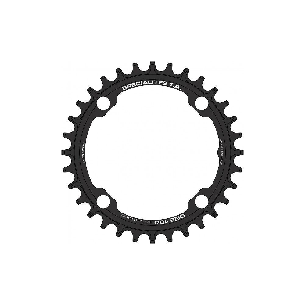 TA One MTB 104pcd Chainring - Black - Narrow/Wide, Black