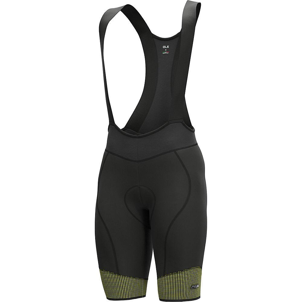 Alé PRS Master 2.0 Cycling Bib Shorts SS21 - Fluo Yellow-Black - XL, Fluo Yellow-Black